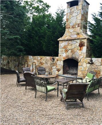 Dennis Cape Cod vacation rental - Oudoor fireplace