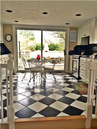 Dennis Cape Cod vacation rental - Eat-in kitchen with sliders to pool area