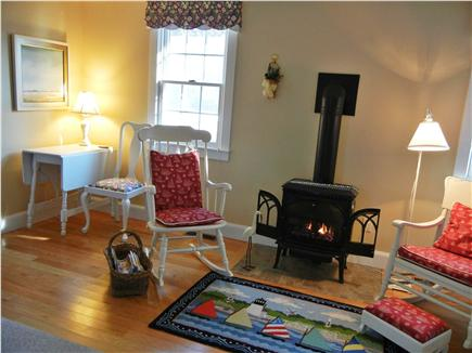 Chatham Cape Cod vacation rental - Living Area with gas fired Jotul stove