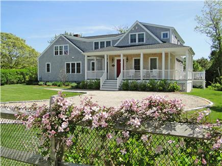 Dennis Port Cape Cod vacation rental - View of lovely gardens and circular stone driveway to house