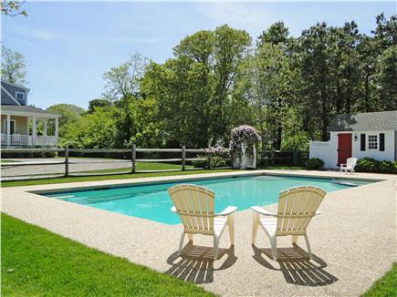 Dennis Port Cape Cod vacation rental - 40 ' heated pool & spa, bathroom, outside shower, & change area