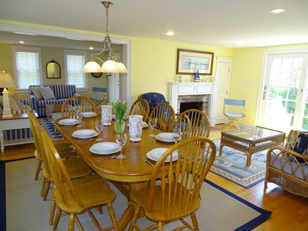 Dennis Port Cape Cod vacation rental - Large open dining room seats 10