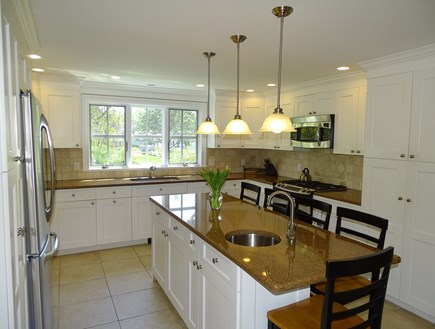 Dennis Port Cape Cod vacation rental - Stainless steel kitchen appliances, and flat screen TV