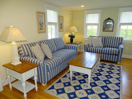 Dennis Port Cape Cod vacation rental - Another view of living room, from dining room entrance