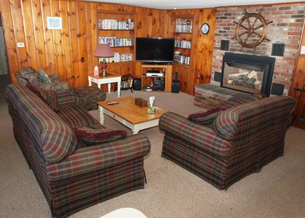 Harwich Cape Cod vacation rental - Great Room with Gas Fireplace for those cool nights!