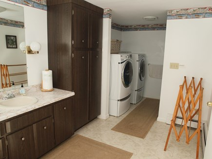 Harwich Cape Cod vacation rental - Main Bathroom with Washer and Dryer