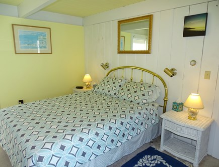 Wellfleet Cape Cod vacation rental - Queen bedroom with slider to atrium