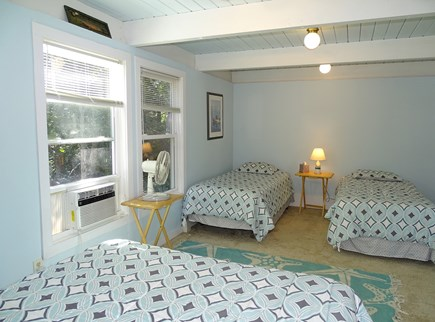 Wellfleet Cape Cod vacation rental - Second bedroom with queen bed and two twins