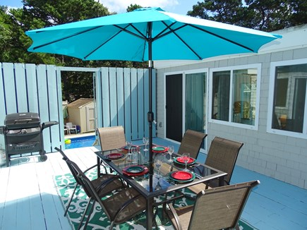 Wellfleet Cape Cod vacation rental - A favorite spot – Center atrium area leads to pool