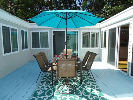 Wellfleet Cape Cod vacation rental - Atrium area with 4 sliders from living room, hallway and master