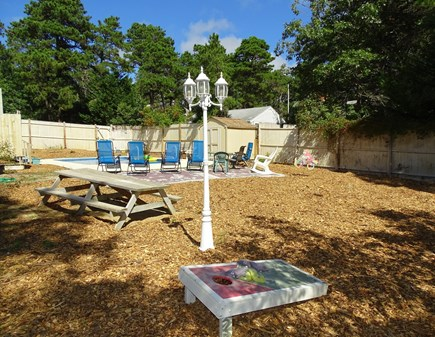Wellfleet Cape Cod vacation rental - Swim, play games, eat lunch, shower outdoors in backyard