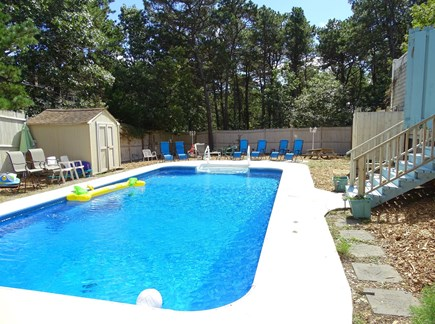 Wellfleet Cape Cod vacation rental - Lovely salt water pool with many seating areas