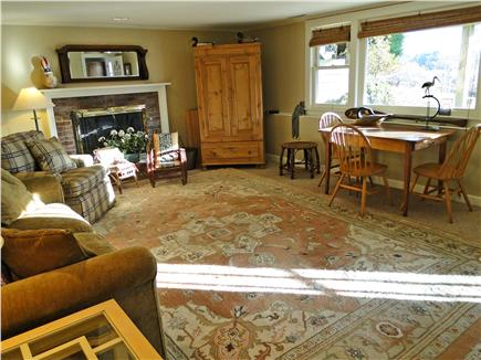 Brewster Cape Cod vacation rental - Spacious lower level family room with water view