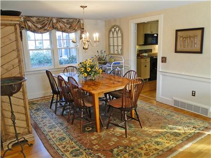 Brewster Cape Cod vacation rental - Pretty dining room, seats 8 comfortably