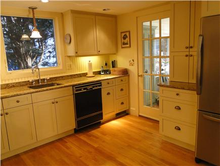 Brewster Cape Cod vacation rental - Kitchen with door to sun porch