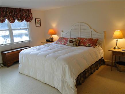 Brewster Cape Cod vacation rental - King sized master bedroom w private bath, water view