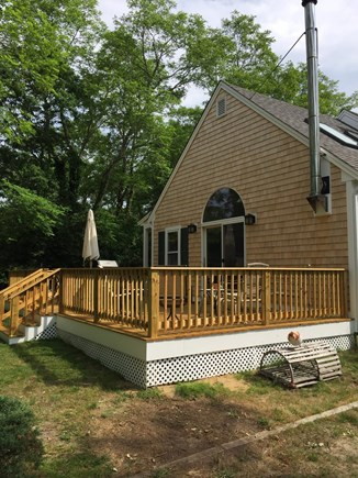 North Eastham Cape Cod vacation rental - Newly expanded deck with slider to great room