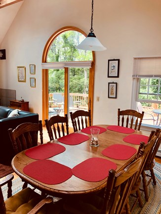 North Eastham Cape Cod vacation rental - Family Room/ Dining Area Slider to Deck