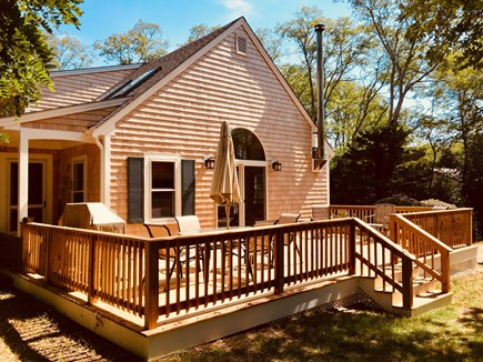 North Eastham Cape Cod vacation rental - Newly Expanded Deck Outdoor Living Area
