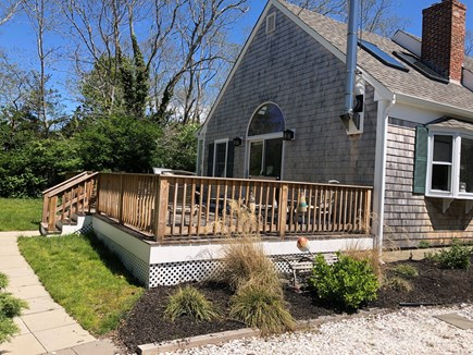 North Eastham Cape Cod vacation rental - Newly Expanded Deck with Slider to Family Room