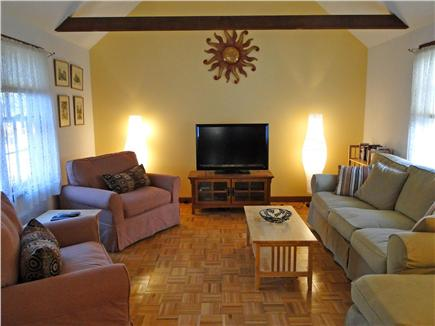 Chatham Cape Cod vacation rental - Great Room with cable TV, ceiling fan and vaulted ceiling