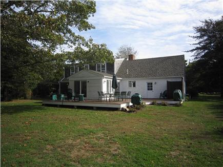 Brewster Cape Cod vacation rental - Large patio overlooking spacious lawn area