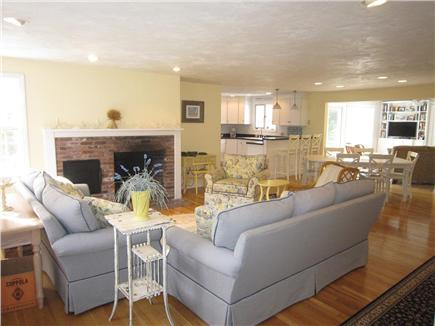 Brewster Cape Cod vacation rental - Spacious Living Area open to dining and kitchen