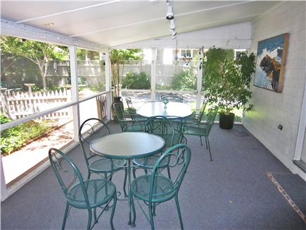 Brewster Cape Cod vacation rental - Screen porch off kitchen