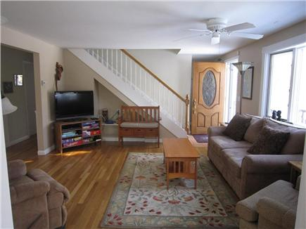 Wellfleet Cape Cod vacation rental - Spacious Living Room leading to sun room and kitchen