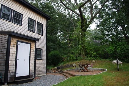Woods Hole, Falmouth Woods Hole vacation rental - Back yard is great for grilling!