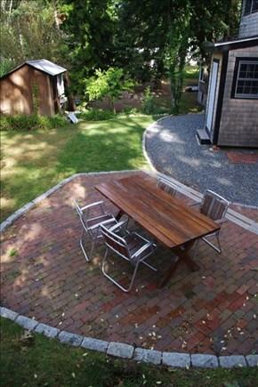 Woods Hole, Falmouth Woods Hole vacation rental - Back patio.