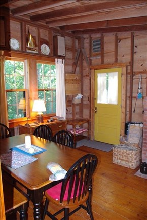 Woods Hole, Falmouth Woods Hole vacation rental - Dining room and entry way.