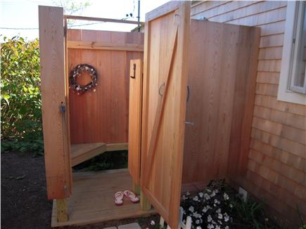 Eastham Cape Cod vacation rental - Outdoor shower with rain head fixture and hand held spray