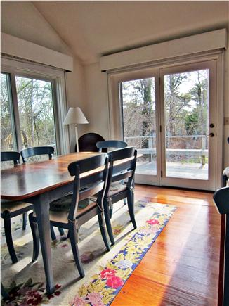 Chatham Cape Cod vacation rental - Dining area and French doors leading to deck