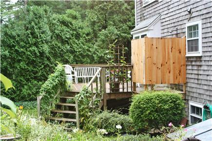 Osterville Osterville vacation rental - Outdoor shower on back deck. Side patio seating area,not pictured