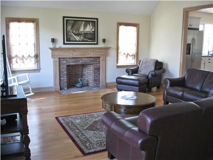Chatham Cape Cod vacation rental - Family room with fireplace