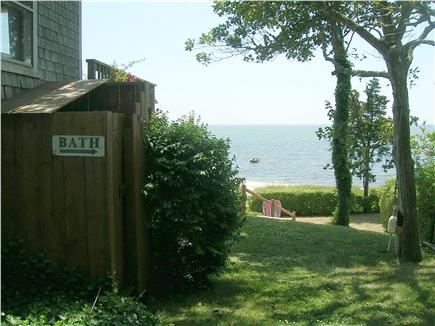 Chatham Cape Cod vacation rental - Outside Shower and side yard