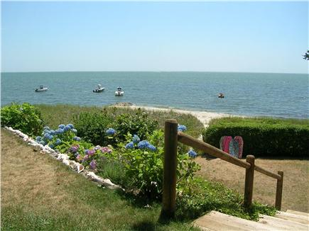Chatham Cape Cod vacation rental - Yard and stairway/path to the beach