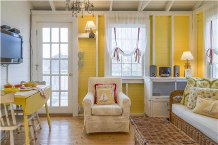 Chatham Cape Cod vacation rental - Open concept dining/living area with door leading to the deck
