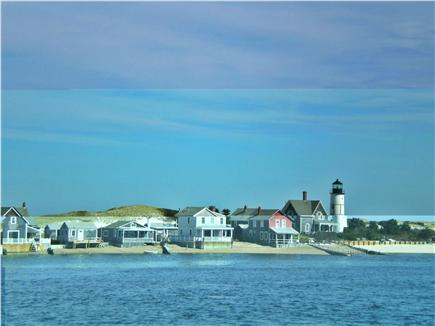 Barnstable Cape Cod vacation rental - Historic Sandy Neck lighthouse, cottages and dunes across the bay