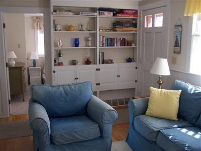 Barnstable Cape Cod vacation rental - Living Room with Books, Games, TV, VCR/DVD Player.