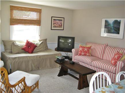 Barnstable Cape Cod vacation rental - Bright Open Family Room w/ TV - Plenty of Space for Entertaining