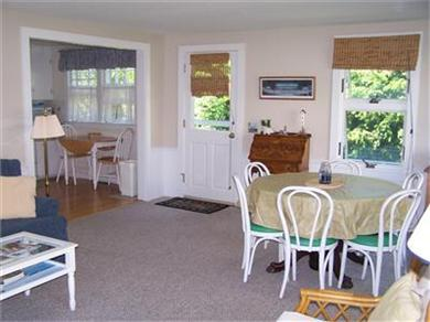 Barnstable Cape Cod vacation rental - Dining Area in Family Room - Door Leads to Outdoor Dining & Grill
