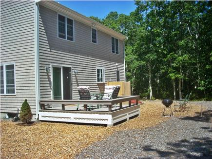 eastham Cape Cod vacation rental - Enjoy dining and relaxing on the back deck
