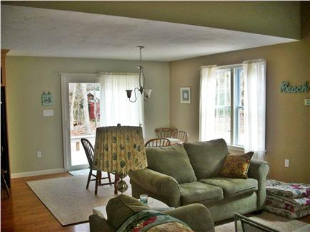 eastham Cape Cod vacation rental - View towards dining area from living room (sliders to deck)