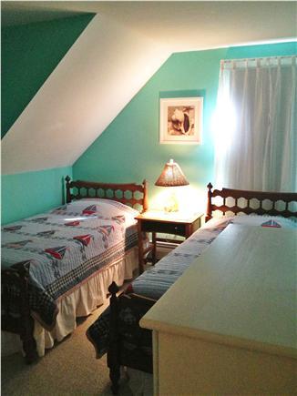 Mashpee, Popponesset Cape Cod vacation rental - Second floor bedroom with twin beds.