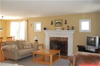 North Eastham Cape Cod vacation rental - Other view of living room and dining area