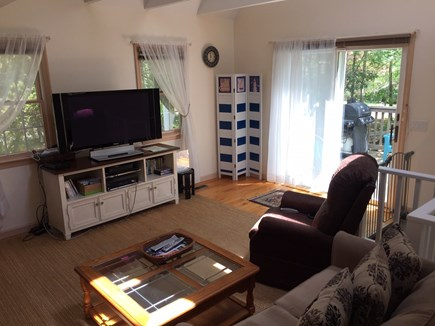 Orleans Cape Cod vacation rental - Den Area with Flat Screen & Deck Access