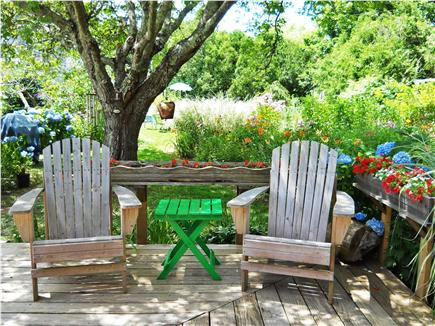 West Yarmouth Cape Cod vacation rental - Enjoy a drink on the deck after a day at the beach