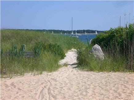 West Yarmouth Cape Cod vacation rental - A short walk to private Lewis Bay beach, safe for kids